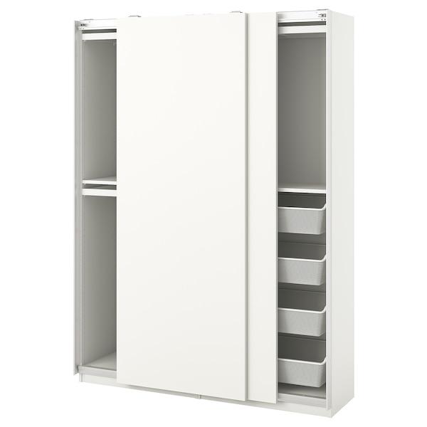 PAX / HASVIK garderobekombinasjon hvit 150 cm 44 cm 201.2 cm