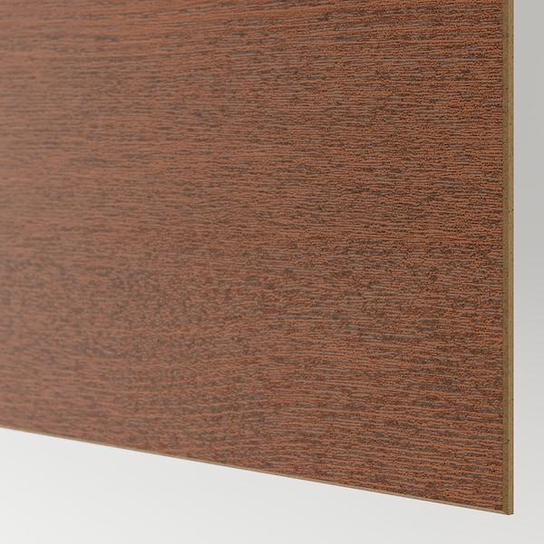 PAX / MEHAMN/NYKIRKE Garderobekombinasjon, brunsvart/frostet glass, rutemønster, 150x66x201 cm