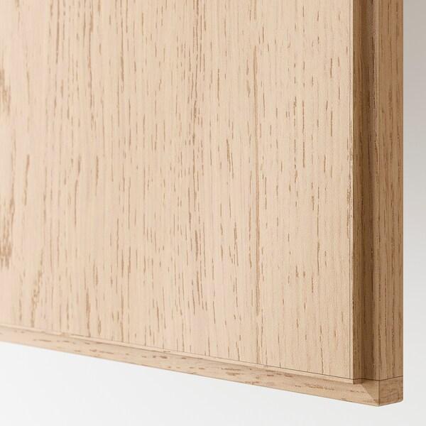 PAX / REPVÅG/VIKEDAL Garderobekombinasjon, hvitbeiset eikemønster/speil, 150x60x201 cm