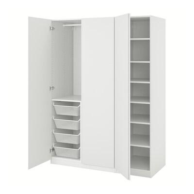 PAX / VIKANES Garderobekombinasjon, hvit, 150x60x201 cm