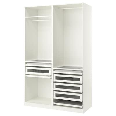 PAX garderobekombinasjon hvit 150.0 cm 58.0 cm 236.4 cm