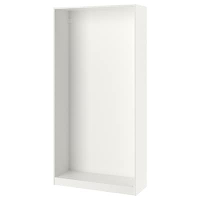 PAX garderobeskapstamme hvit 99.8 cm 100 cm 35.5 cm 201.2 cm 35 cm 201 cm