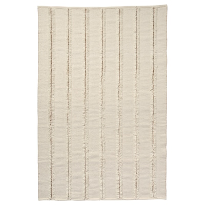 PEDERSBORG Teppe, flatvevd, natur/offwhite, 133x195 cm