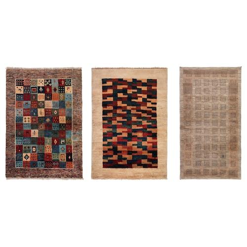 PERSISK GABBEH L teppe, lang lugg håndlaget flere farger 175 cm 110 cm 1.93 m² 5000 g/m² 18 mm 24 mm 12 mm 175 stk.