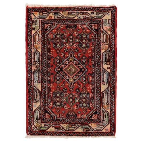 PERSISK HAMADAN teppe, kort lugg håndlaget blandede mønstre 90 cm 60 cm 0.54 m² 3500 g/m² 10 mm 12 mm 7 mm 300 stk.