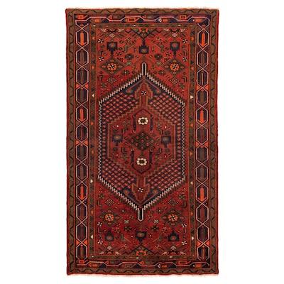 PERSISK HAMADAN Teppe, kort lugg, håndlaget blandede mønstre, 140x200 cm