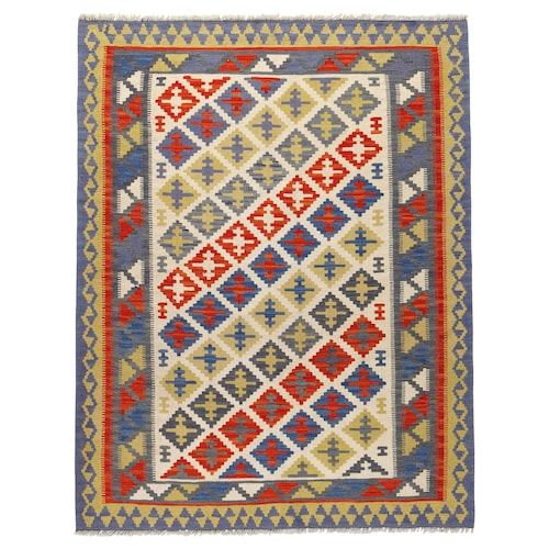 PERSISK KELIM GASHGAI teppe, flatvevd håndlaget blandede mønstre 180 cm 125 cm 2.25 m²