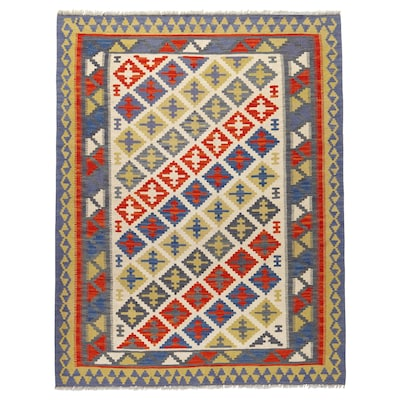 PERSISK KELIM GASHGAI Teppe, flatvevd, håndlaget blandede mønstre, 125x180 cm