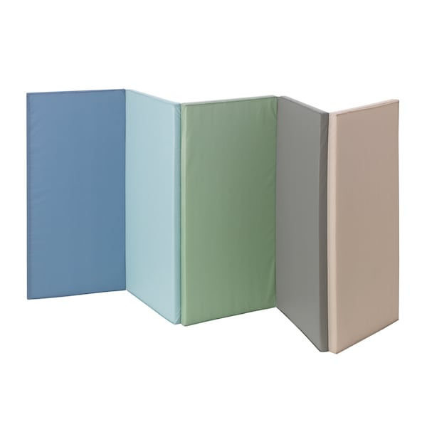 PLUFSIG Treningsmatte, sammenleggbar, blå, 78x185 cm