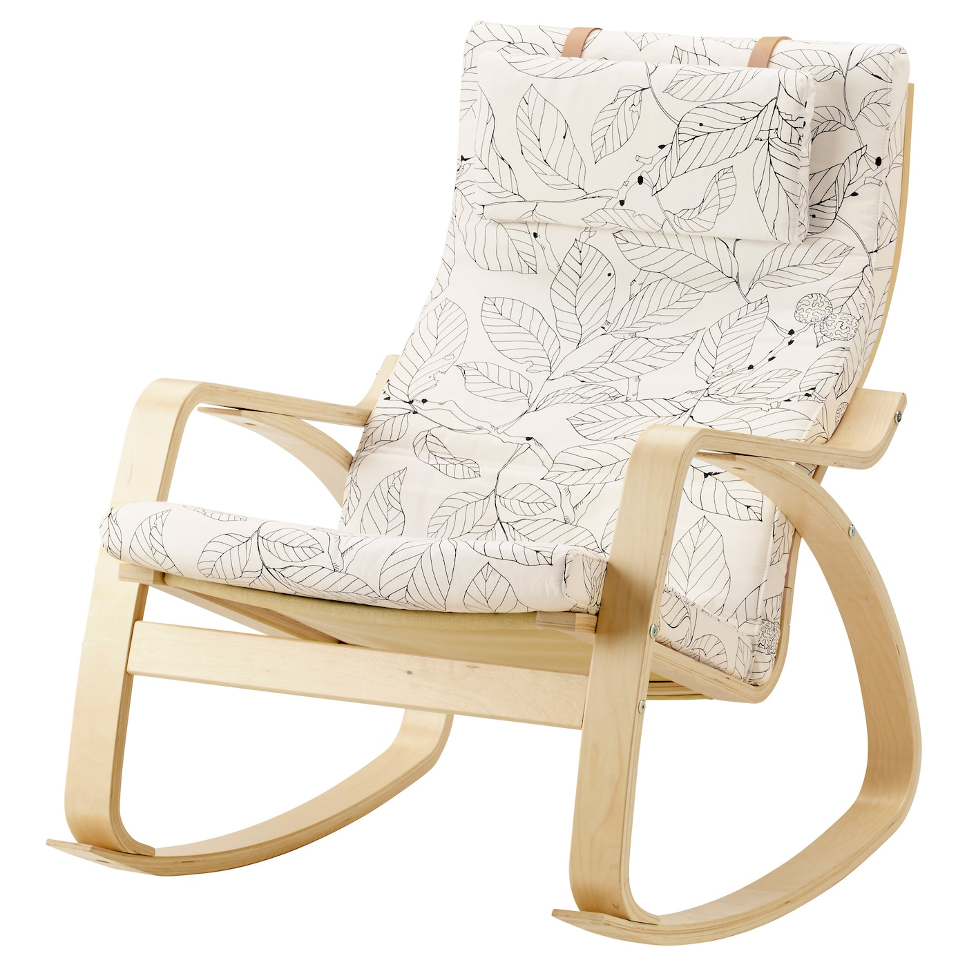 POÄNG Lenestol bjørkefinerVislanda svarthvit IKEA