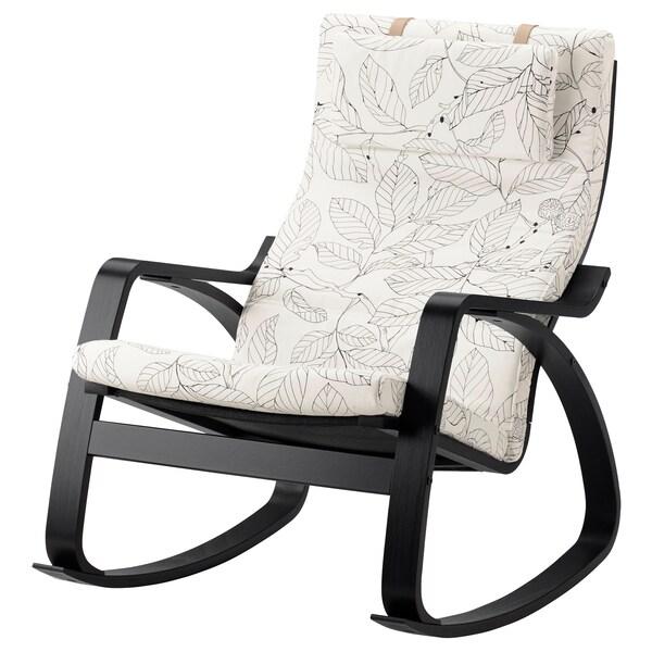 POÄNG Gyngestol brunsvartVislanda svarthvit IKEA