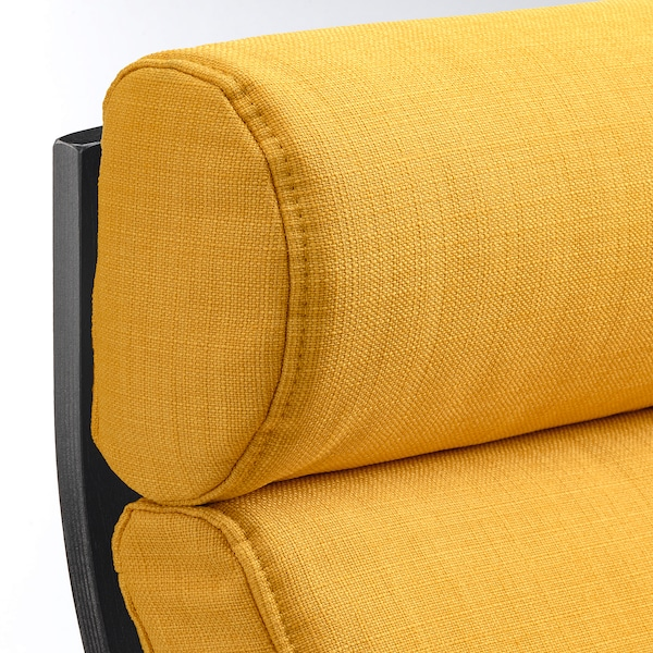 POÄNG Lenestol, brunsvart/Skiftebo gul