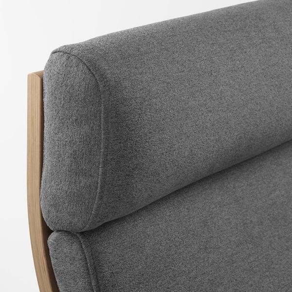 POÄNG Lenestol hvitbeiset eikefinerLysed grå IKEA