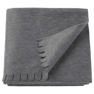 POLARVIDE pledd grå 170 cm 130 cm