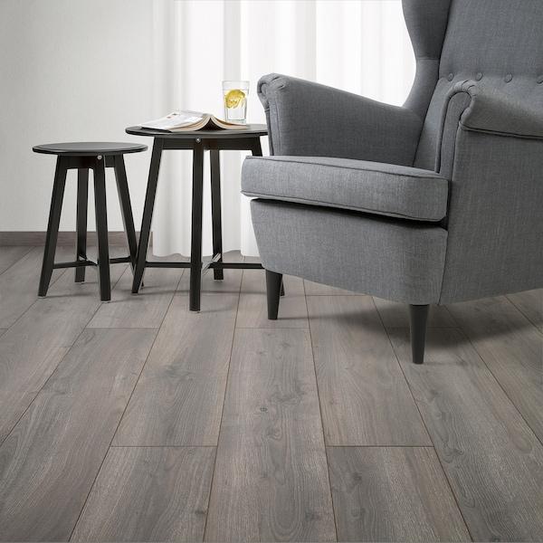 PRÄRIE Laminatgulv, eikemønstret grå/brun, 2.25 m²