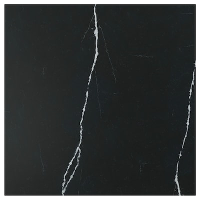 RÅHULT Spesialtilpasset veggplate, matt svart/marmormønstret kvarts, 1 m²x1.2 cm