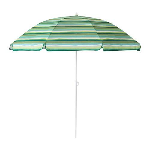 RAMSÖ Parasoll , justerbar, grønn Diameter: 160 cm Stolpediameter: 22 mm Min. høyde: 143 cm Maks høyde: 190 cm