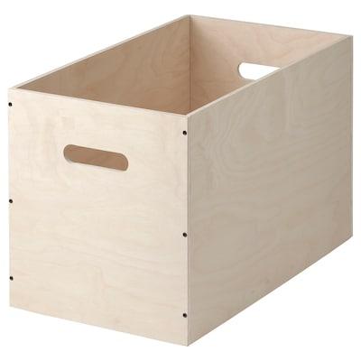 RÅVAROR Kasse, bjørkefiner, 57x33 cm