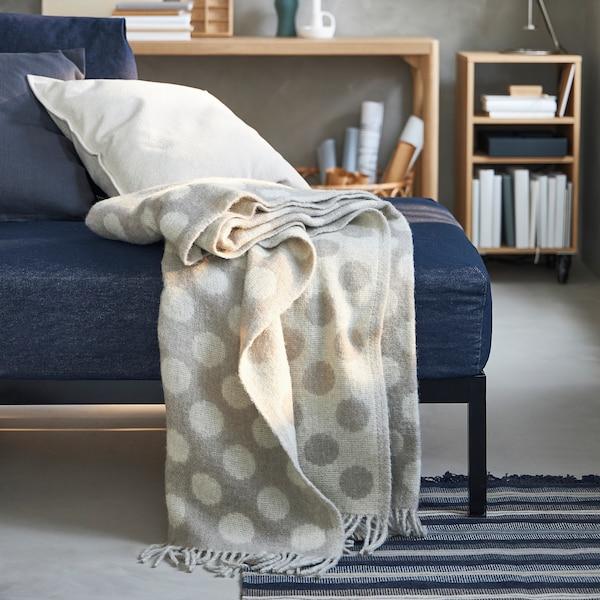 RÅVAROR Pledd, beige, 150x200 cm