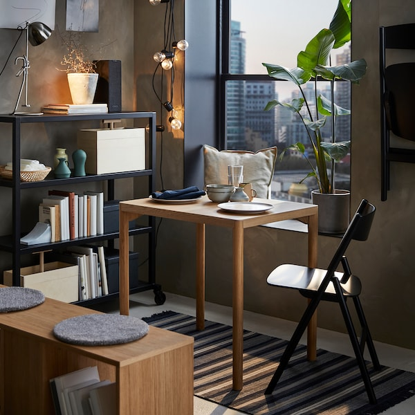 RÅVAROR Spisebord, eikefiner, 60x78 cm