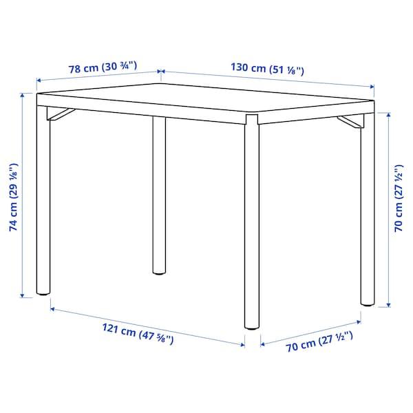 RÅVAROR Spisebord, eikefiner, 130x78 cm