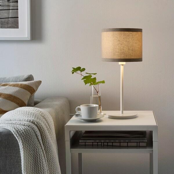 RINGSTA Lampeskjerm, beige, 19 cm