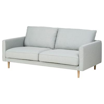 RINGSTORP 2-seters sofa, lys grå/natur