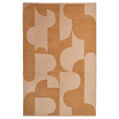 RÖDASK Teppe, flatvevd, lys brun, 133x195 cm