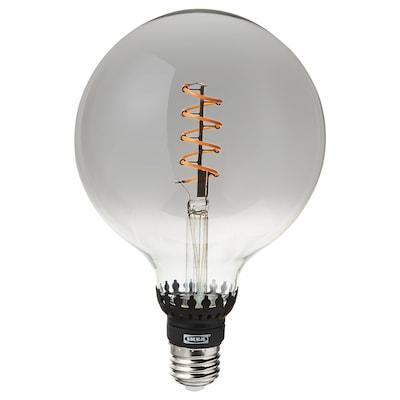 ROLLSBO LED-pære E27 200 lumen, dimbar/globe grått klart glass, 125 mm