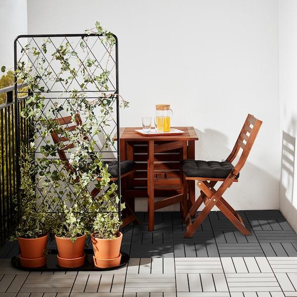 RUNNEN gulvplater, utendørs mørk grå 0.81 m² 30 cm 30 cm 2 cm 9 stk.
