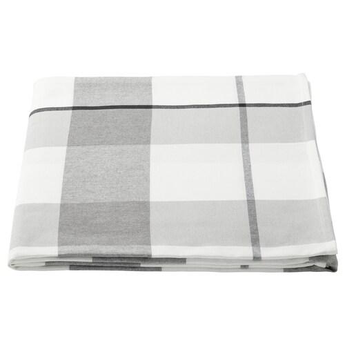 RUTIG duk rutemønster grå 240 cm 145 cm