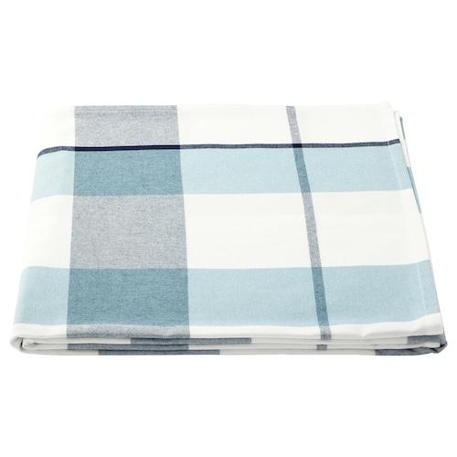 RUTIG duk rutemønster blå 240 cm 145 cm