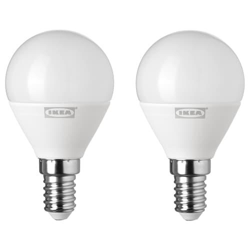 RYET LED-pære E14 400 lumen globeformet opalhvit 400 lm 2 stk.