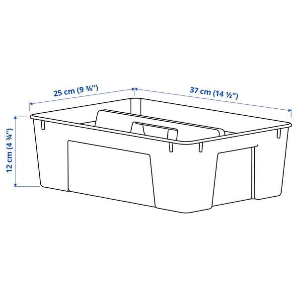 SAMLA Innsats til kasse 11/22 l, transparent, 37x25x12 cm