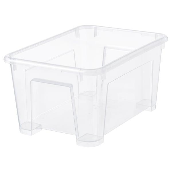 SAMLA Kasse, transparent, 28x19x14 cm/5 l
