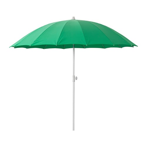 SAMSÖ Parasoll , kan vinkles, grønn Diameter: 200 cm Stolpediameter: 32 mm Min. høyde: 165 cm Maks høyde: 230 cm