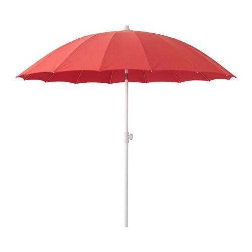 SAMSÖ Parasoll , kan vinkles, rød Diameter: 200 cm Stolpediameter: 32 mm Min. høyde: 165 cm Maks høyde: 230 cm
