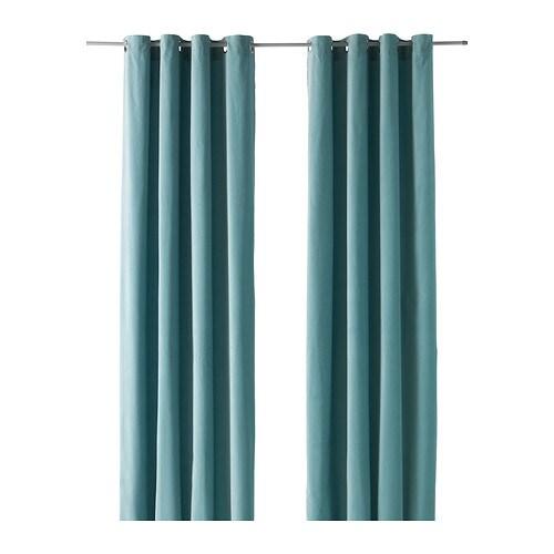 Sanela gardiner 1 par ikea - Ikea wanduhr turkis ...