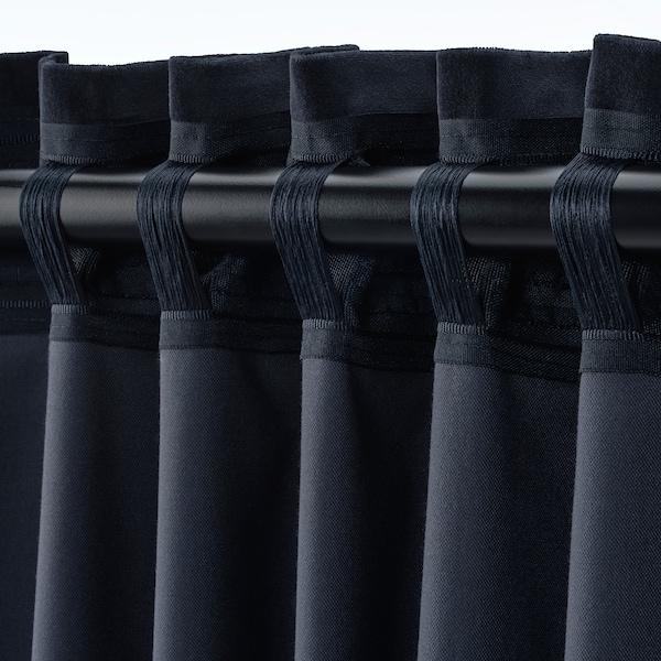 SANELA Lysdempende gardiner, mørk blå, 140x300 cm