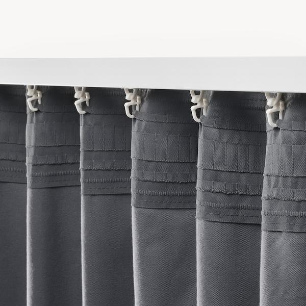 SANELA Lysdempende gardiner, mørk grå, 140x250 cm
