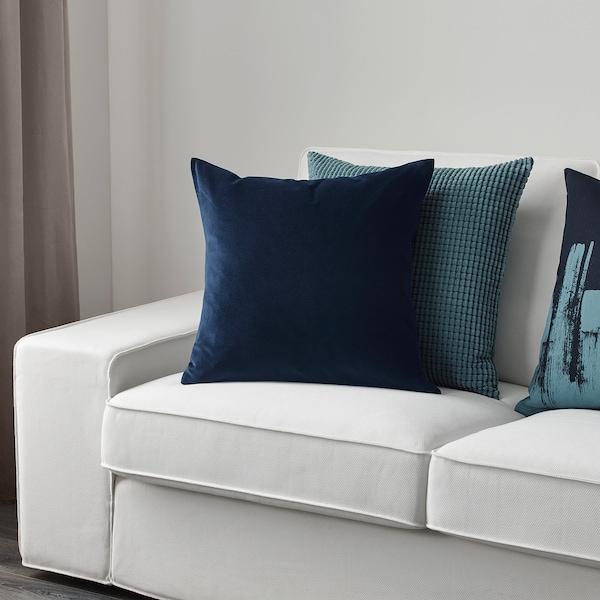 SANELA Putetrekk, mørk blå, 50x50 cm