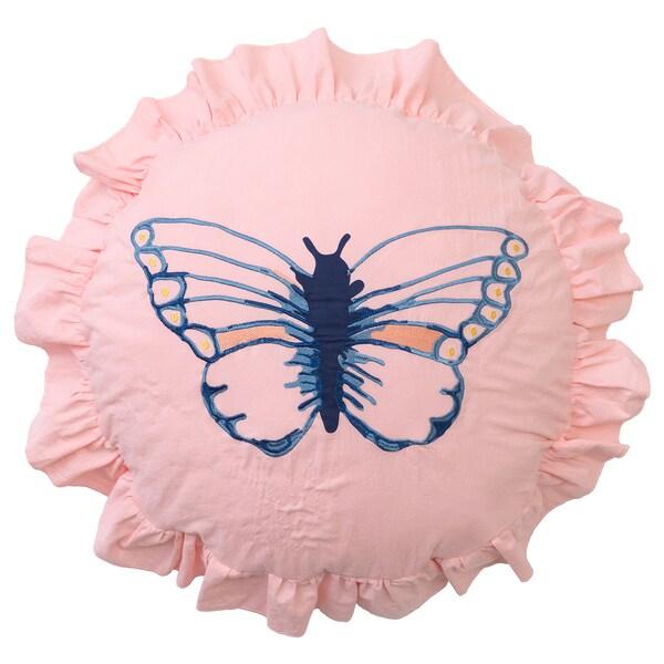 SÅNGLÄRKA Pute, sommerfuglmønstret