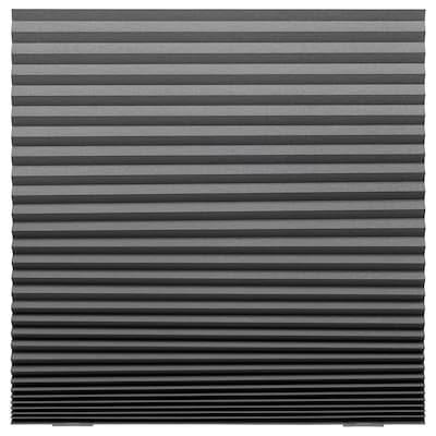 SCHOTTIS Lystett plisségardin, mørk grå, 100x190 cm