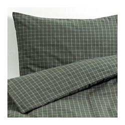SEFYRLILJA enkelt sengesett, grå