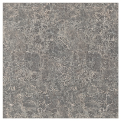 SIBBARP Spesialtilpasset veggplate, mørk grå marmormønstret/laminat, 1 m²x1.3 cm