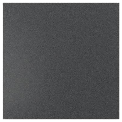 SIBBARP Spesialtilpasset veggplate, svart steinmønstret/laminat, 1 m²x1.3 cm