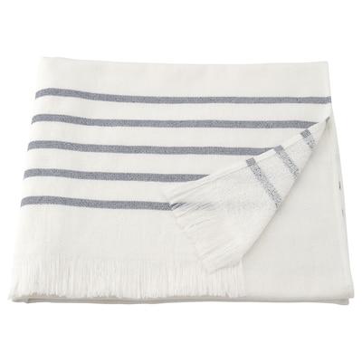SIESJÖN Badelaken, hvit/blå stripe, 100x150 cm
