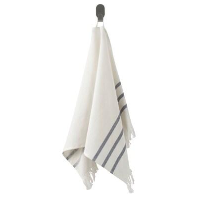 SIESJÖN Håndkle, hvit/blå stripe, 40x70 cm
