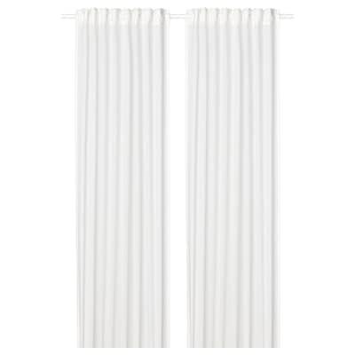 SILVERLÖNN Florlette gardiner, 1 par, hvit, 145x250 cm
