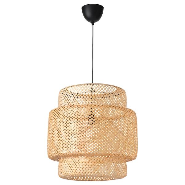 SINNERLIG Taklampe, bambus/håndlaget